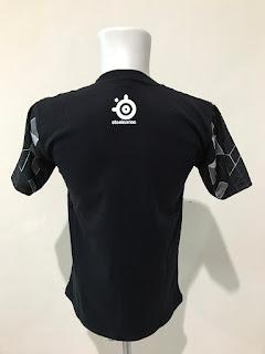 Kaos Baju Tshirt Gaming Steelseries Arctis Black