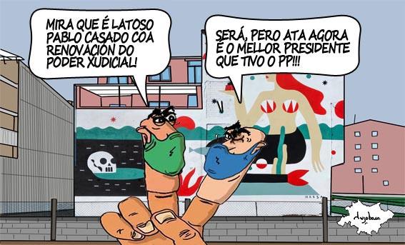 Casado pide nos argumentarios internos do PP culpar a Sánchez do bloqueo do Poder Xudicial