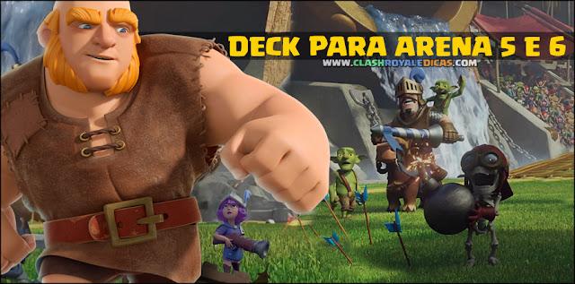 Deck básico para Arena 5 e 6 Clash Royale