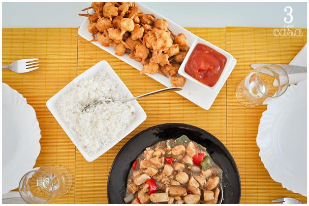 decoração almoço chinês
