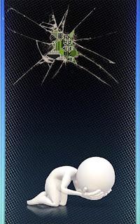 wallpaper layar HP Retak mesin HP Samsung