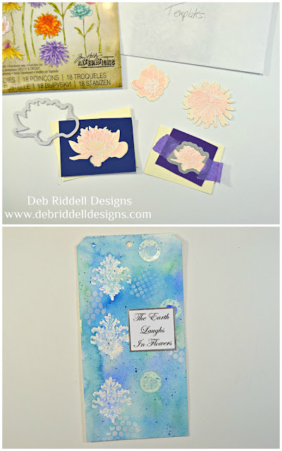 The Earth Laughs In Flowers watercolour tag tutorial step