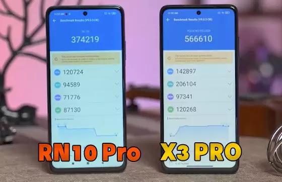 أداء POCO X3 Pro مقابل Redmi Note 10 Pro