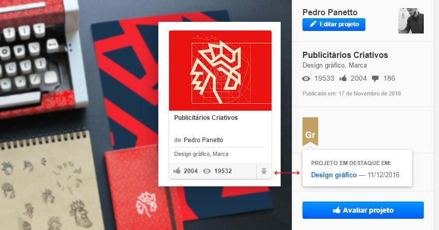 INCRÍVEL - Novo logo do blog publicitários criativos ganha destaque no behance