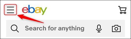 رمز قائمة همبرغر في eBay.