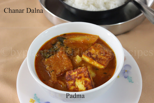 C For Chhanar Dalna (Cottage cheese cubes in gravy)