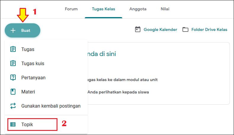 2 Cara Membuat Absen Di Google Classroom Tutorial Lengkap Klik Refresh