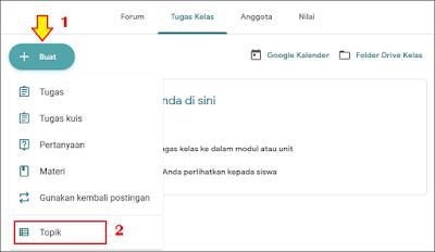 Cara Membuat Absen di Google Classroom - 1A