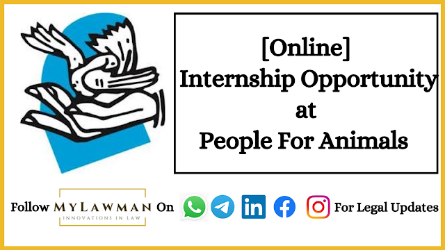 [Online] Internship Opportunity at People For Animals [Apply Soon]