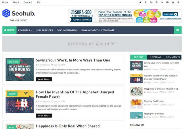 Seo Hub Blogger Template Free Download Paid Version.