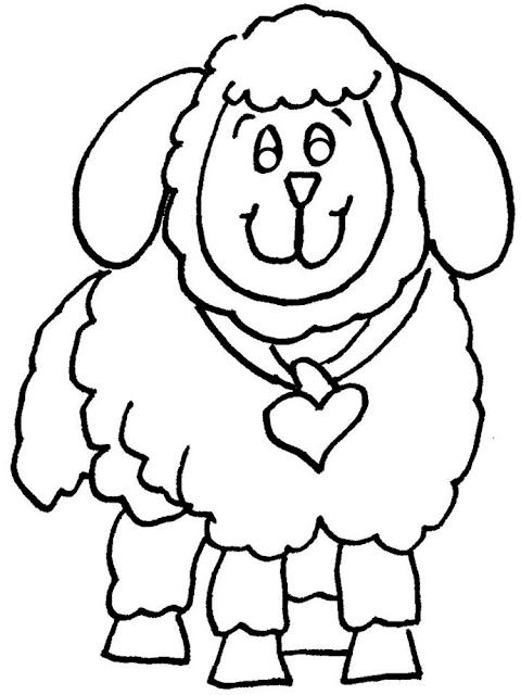 Gambar Mewarnai Domba - 10