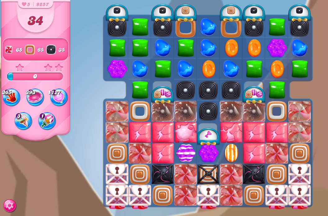 Candy Crush Saga level 9257