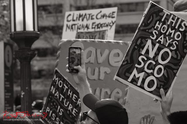 Sydney Climate Rally - 'This Home Say No Scomo'