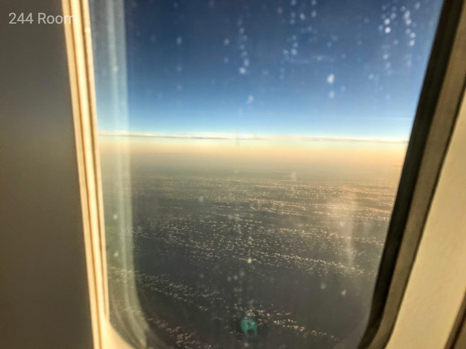 JALビジネスクラスシート窓 Business class window