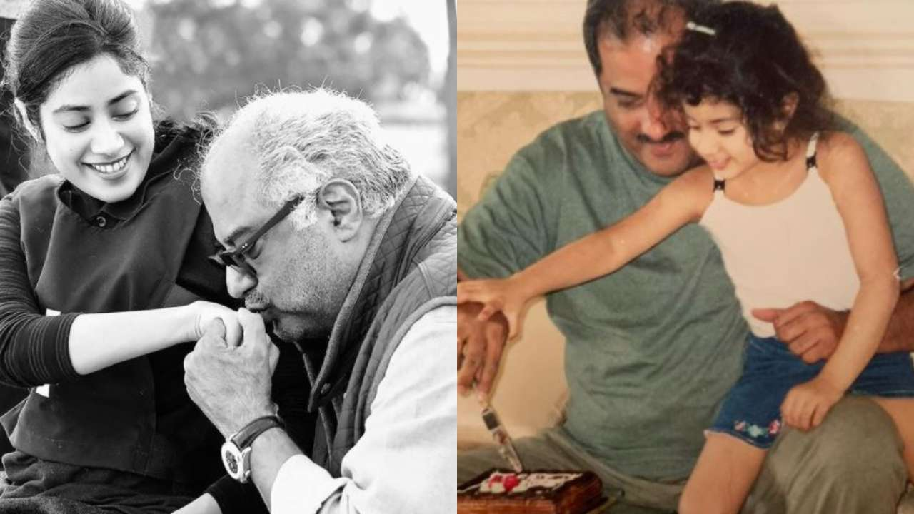 Celeb Gossips: Janhvi Kapoor shares adorable throwback photos wishing dad Boney Kapoor on his birthday; see pics