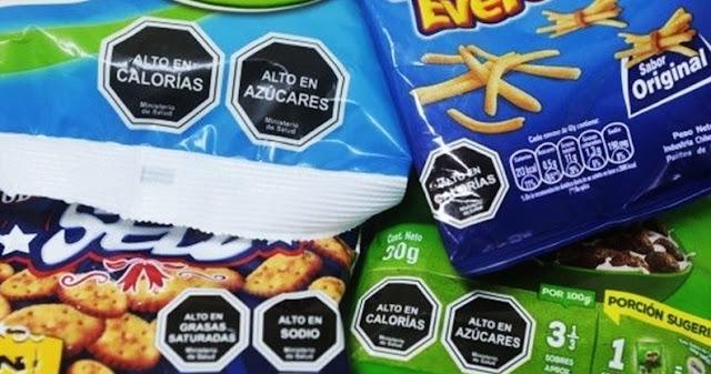 Los octógonos de color negro y blanco en los alimentos procesados