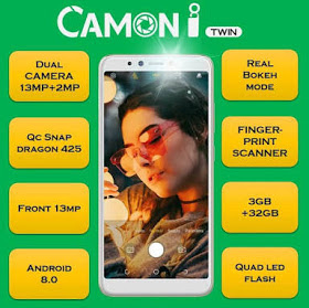 Full specifications of Camon I Twin