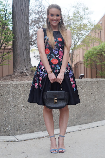 chicwish floral skater dress