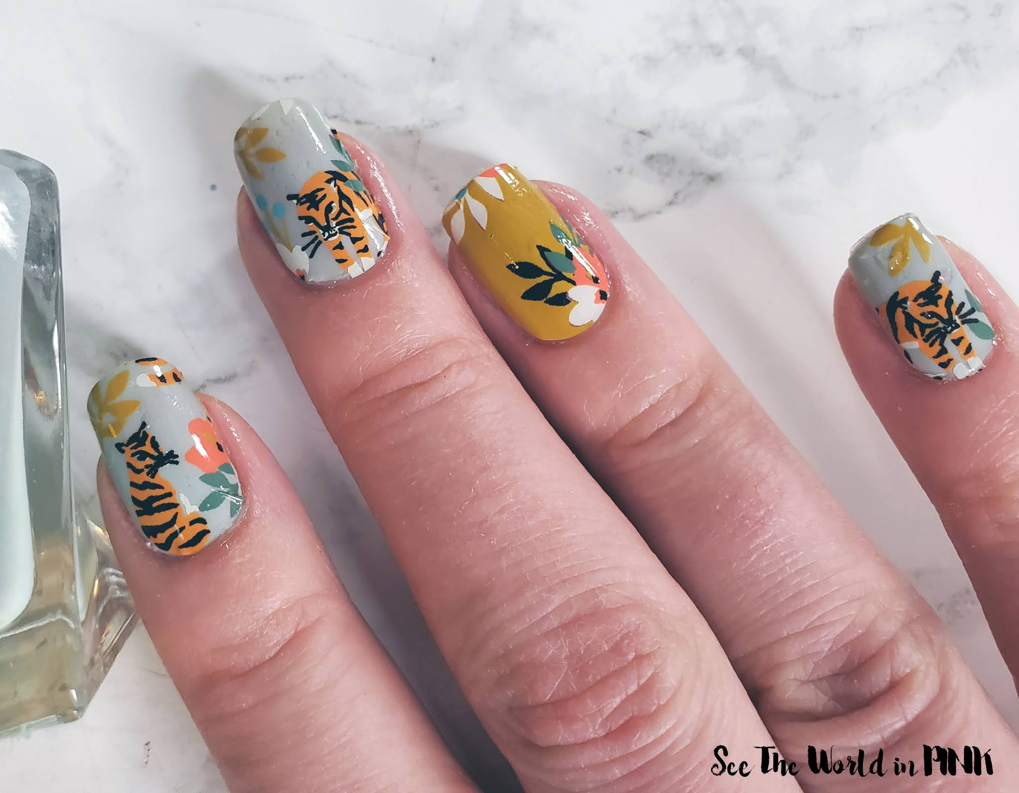 Manicure Monday - Lucky MMK Tiger Nail Wraps