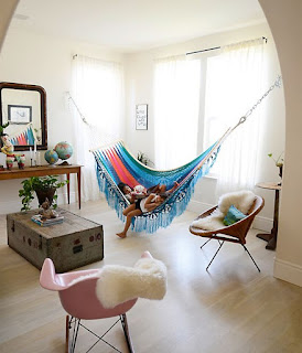 hammock, chair, armchair, rope, hanging chair, cottage, bohemian decoration, crouch, decoration ideas, chair, furnishings, outdoor furniture, terrace, garden, balcony, romantic style, boho style, teen room