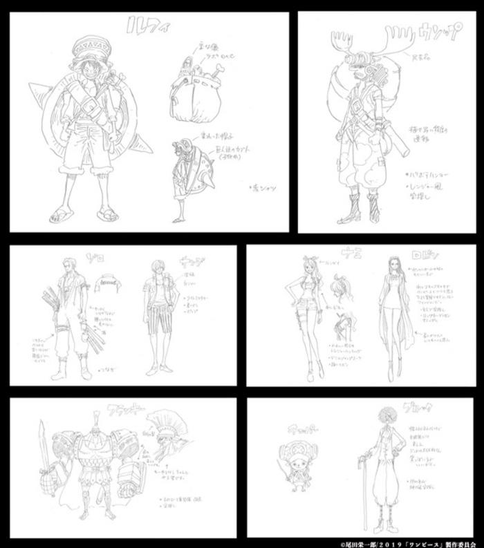 One Piece: Stampede - diseño de personajes
