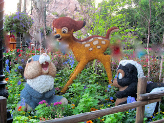 Bambi and Thumper skunk topiary