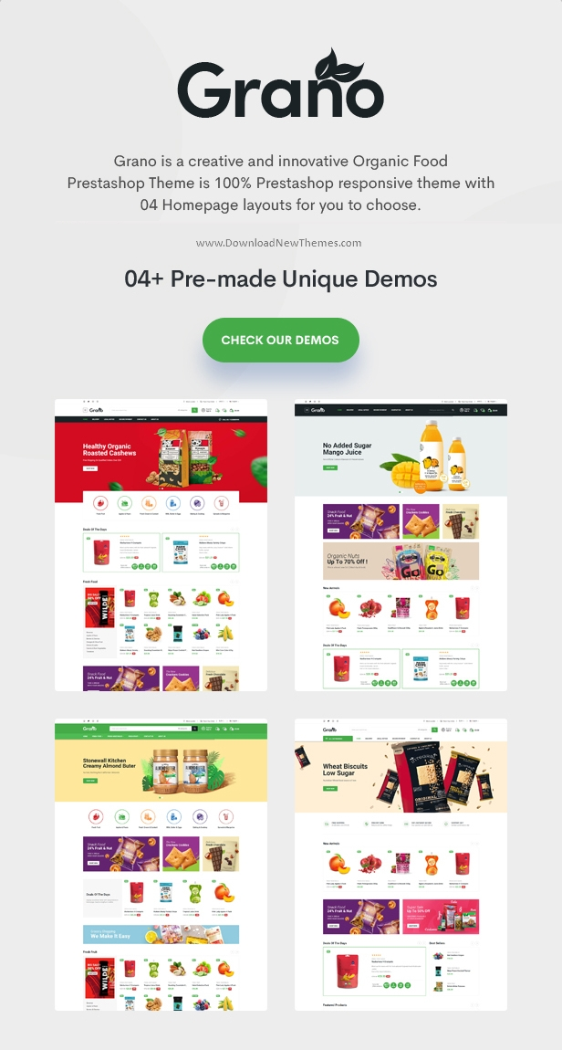 Organic and Food Responsive Prestashop Theme
