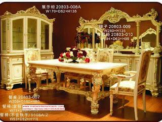 Meja makan jati klasik duco ukiran jepara,furniture duco, Furniture Jati Jepara,