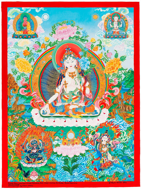 White Tara thangka White_Tara_thangka
