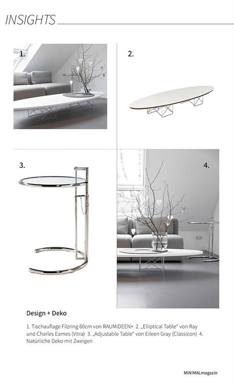Minimalistisch Wohnen, im MINIMALmagazin findest du Tipps zum minimalistischen Einrichtungsstil.