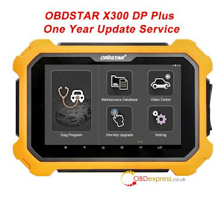 obdstar X300DP plus has one-year-free update  obdexpress.co.uk