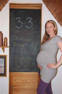 Bauchbild 33. Schwangerschaftswoche