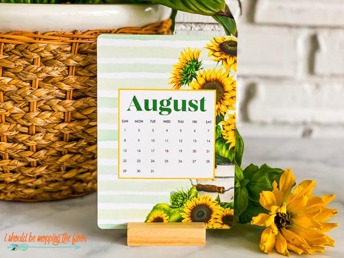 Free August Printable Calendars