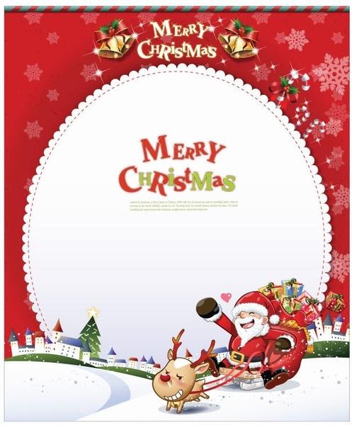 Vector Christmas Card with Santa Claus Free vector templates file