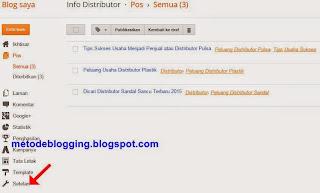 Pengaturan Blog