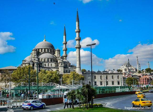 Mesquita Nova e Mesquita de Suleiman, em Istambul