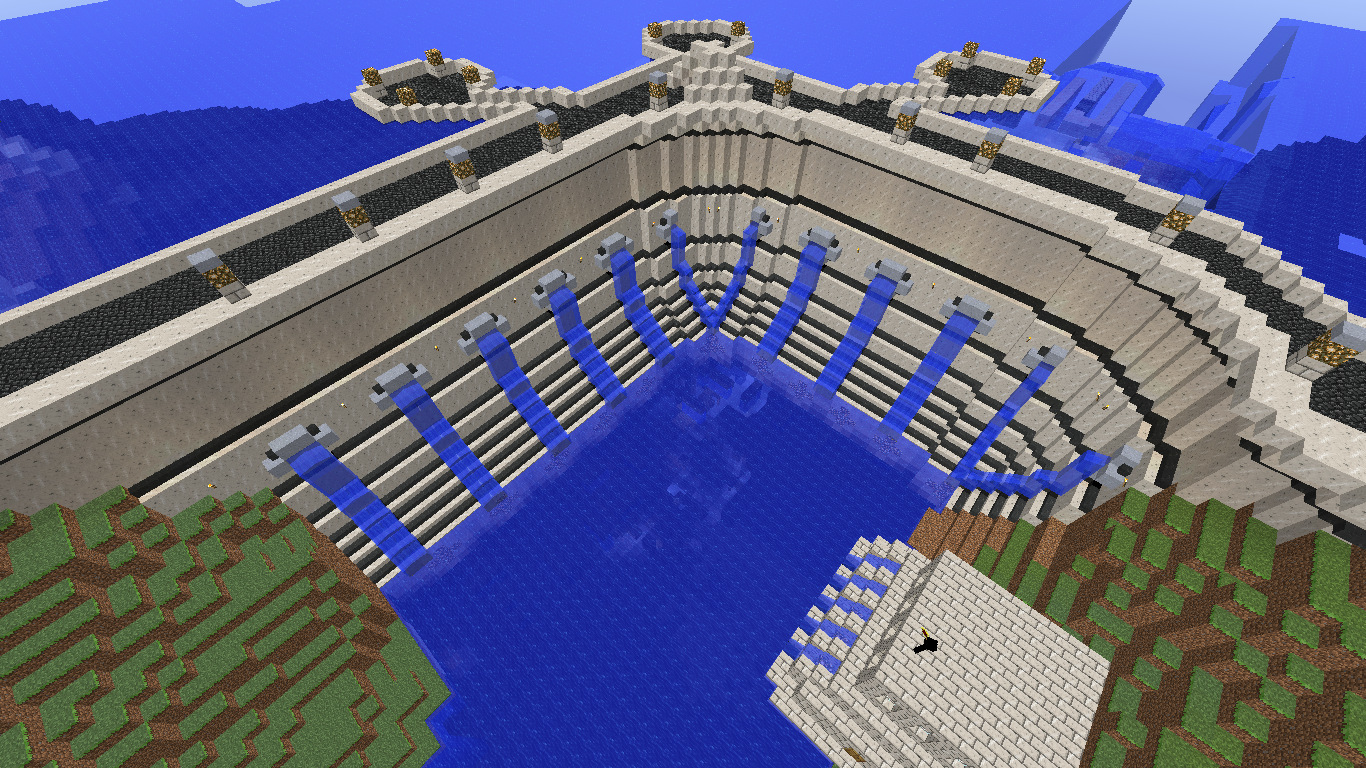 Minecraft Building Ideas: Dam