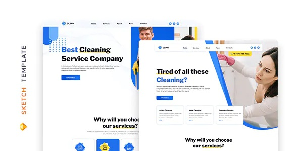 Best Cleaning Template for Sketch