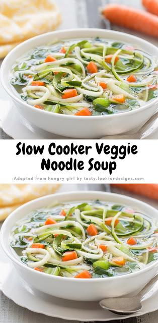 Slow Cooker Veggie Noodle Soup