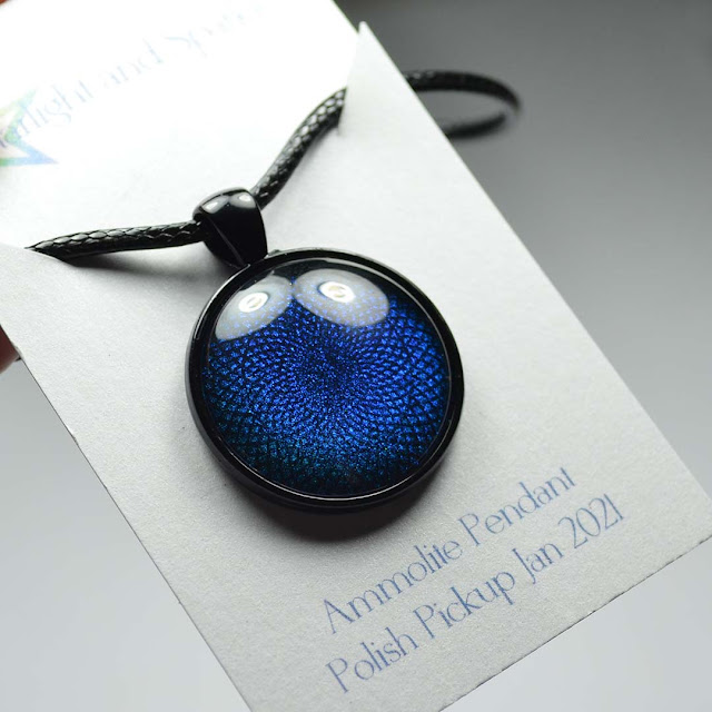 cobalt pendant necklace