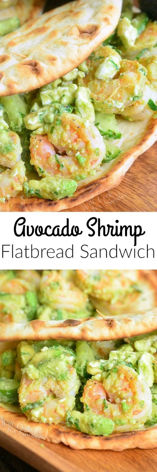 Avocado Shrimp Flatbread