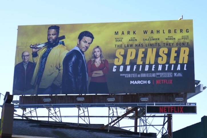 Spenser Confidential movie billboard
