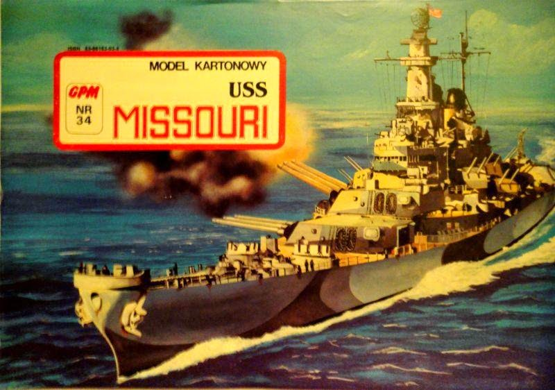Air Paper Craft Model: Battleship USS Missouri