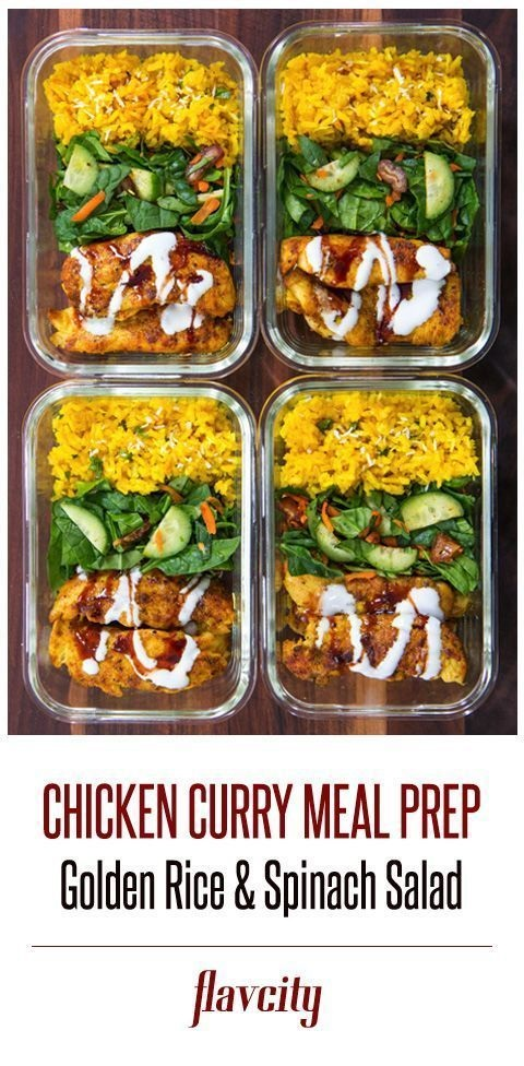 Curry Spiced Chicken Meal Prep