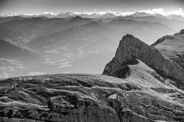 Ausblick Panorama Rofanspitze