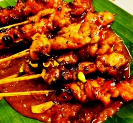 Gambar sajian resep sate ayam khas madura spesial paling enak