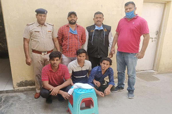 faridabad-dabua-thana-police-arrested-three-307-accused