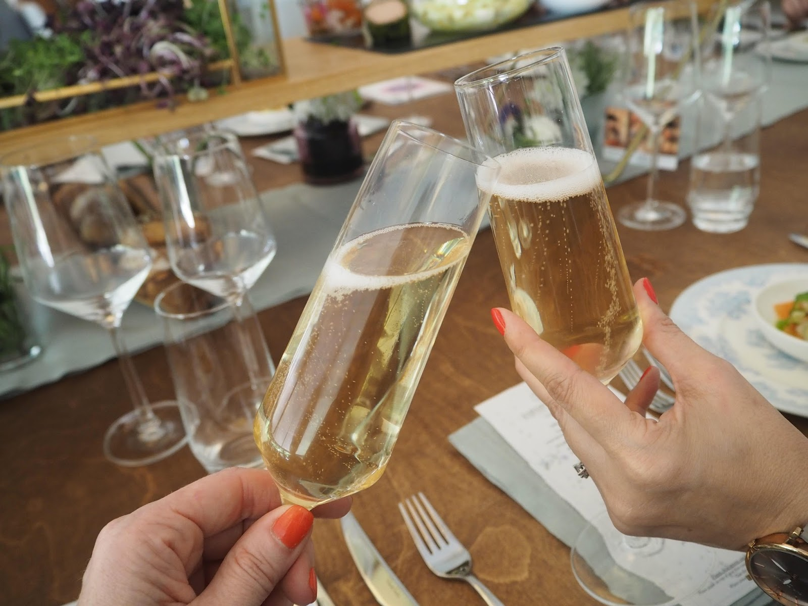 Champagne at Jardin Blanc, Chelsea Flower Show 2017
