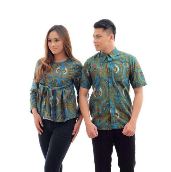 Model Baju Batik Couple Keluarga Modern Terbaru 2019