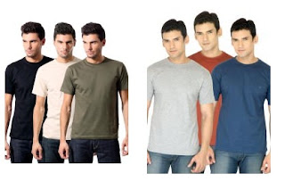 Pack of 3 Round Neck T-Shirts for Rs.374 Only @ Myntra